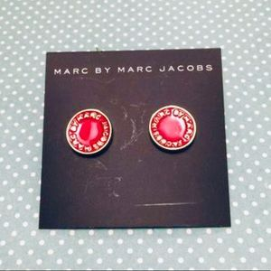 Marc Jacobs Red disc gold tone earrings
